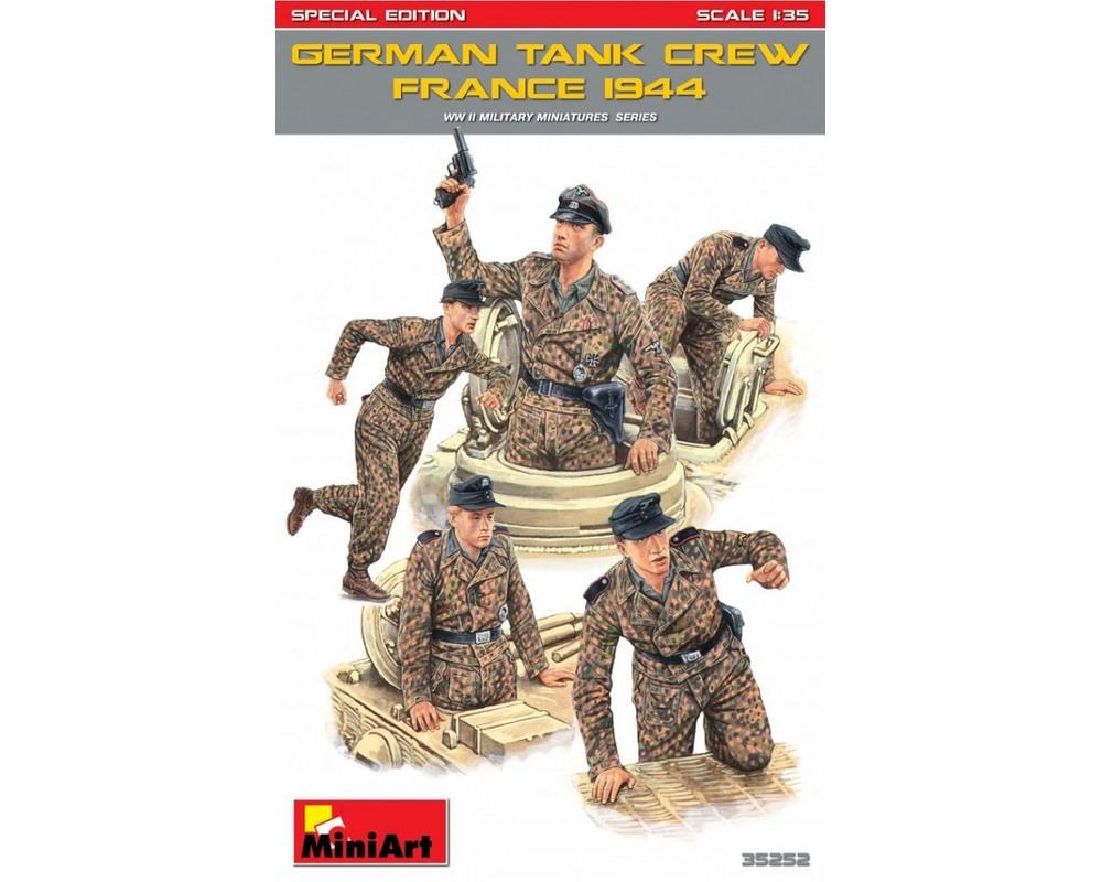 Сборные фигурки MiniArt Немецкий танковый экипаж, Франция 1944, специальное издание 1:35 (MA35252)