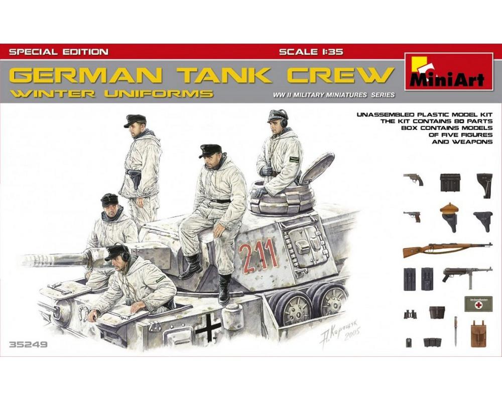 Сборные фигурки MiniArt Немецкий танковый экипаж, зимняя униформа, специальное издание 1:35 (MA35249)