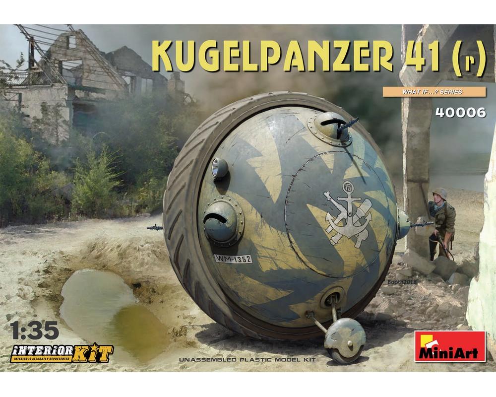 Сборная модель немецкого шаротанка MiniArt Kugelpanzer 41 (r) с интерьером 1:35 (MA40006)