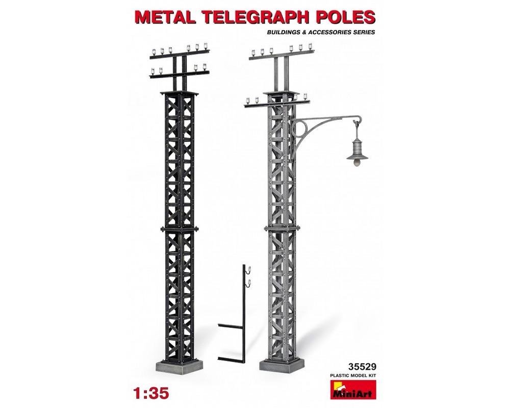 Сборная модель MiniArt Металлические телеграфные столбы 1:35 (MA35529)
