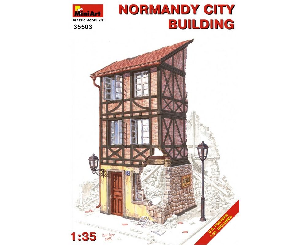 Сборная модель MiniArt Нормандское городское здание 1:35 (MA35503)
