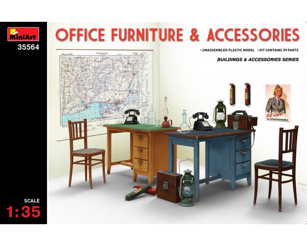 Сборная модель MiniArt Офисная мебель и аксессуары 1:35 (MA35564)