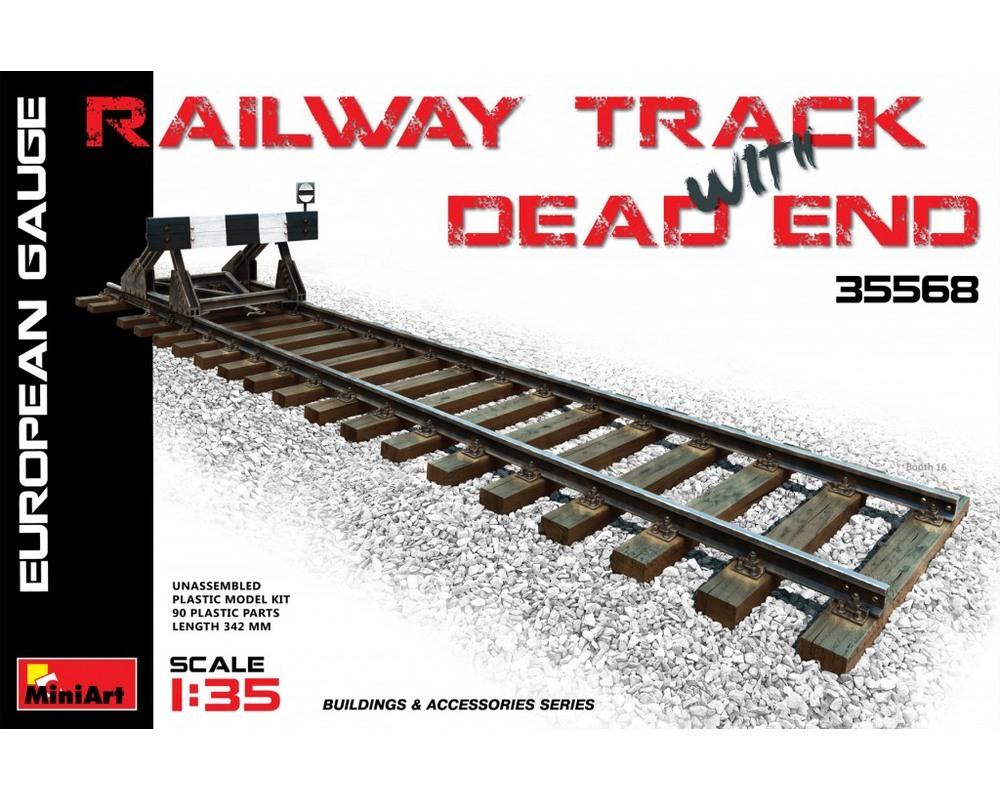 Сборная модель MiniArt Железнодорожные пути с тупиком, европейская колея 1:35 (MA35568)