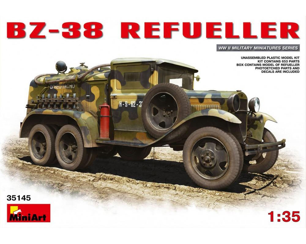 Сборная модель MiniArt Топливозаправщик БЗ-38 1:35 (MA35145)