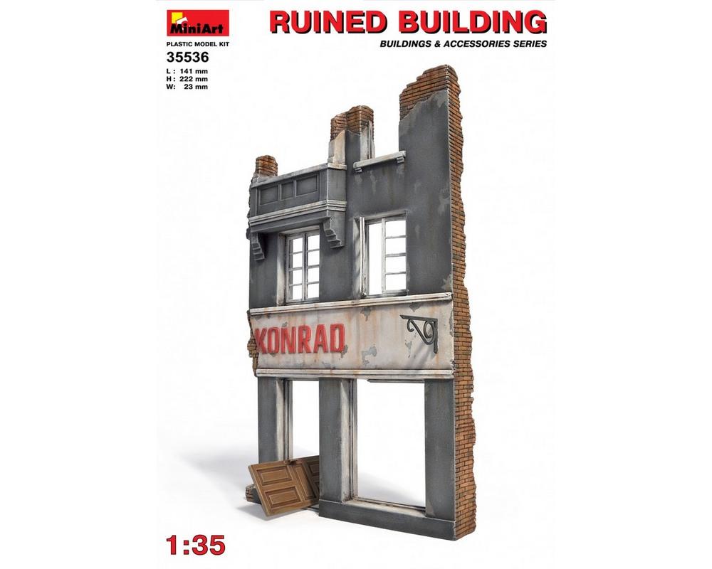 Сборная модель MiniArt Разрушенное здание 1:35 (MA35536)