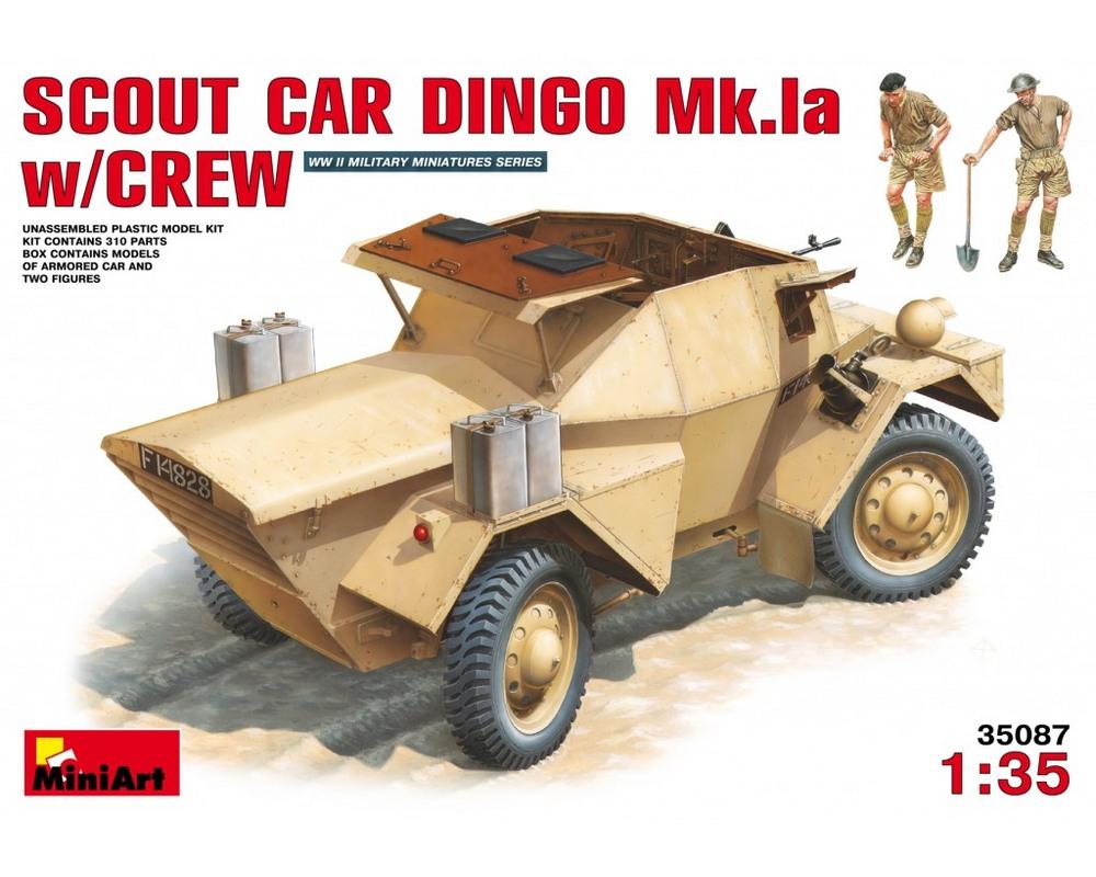 Сборная модель MiniArt Разведывательный бронеавтомобиль Dingo Mk.Ia с экипажем 1:35 (MA35087)