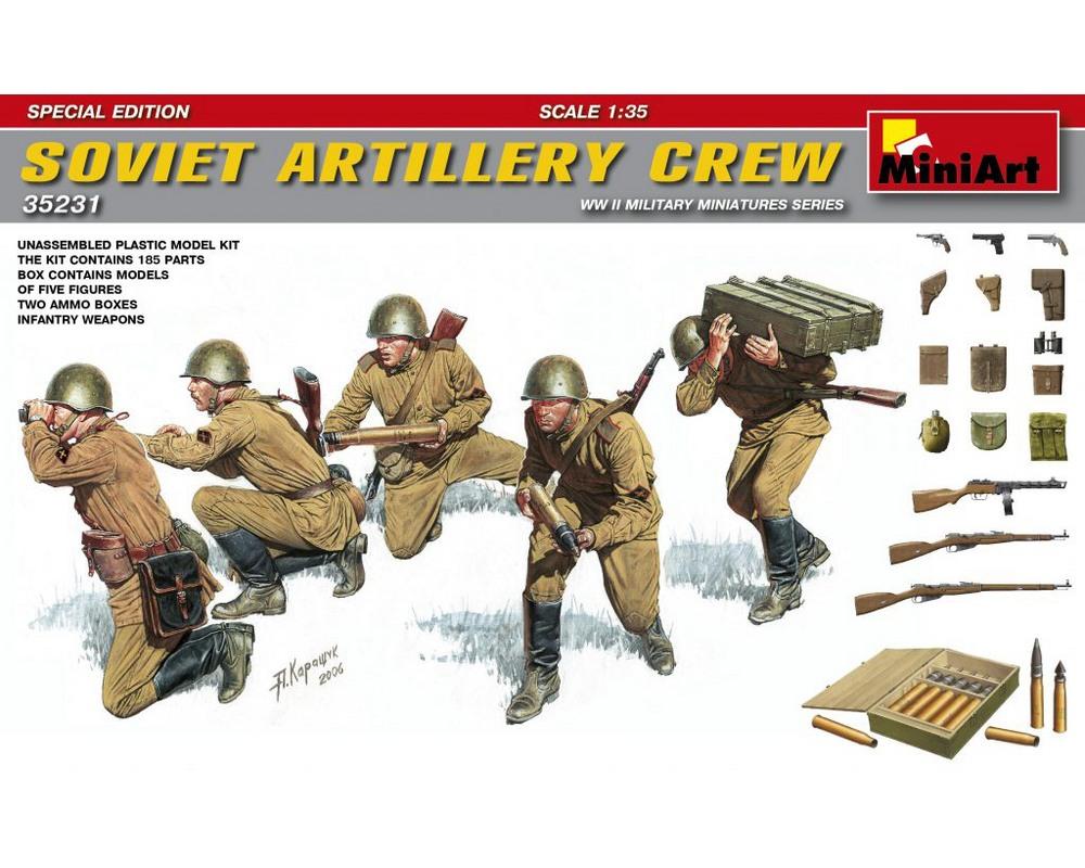 Сборные фигурки MiniArt Советские артиллеристы, специальное издание 1:35 (MA35231)