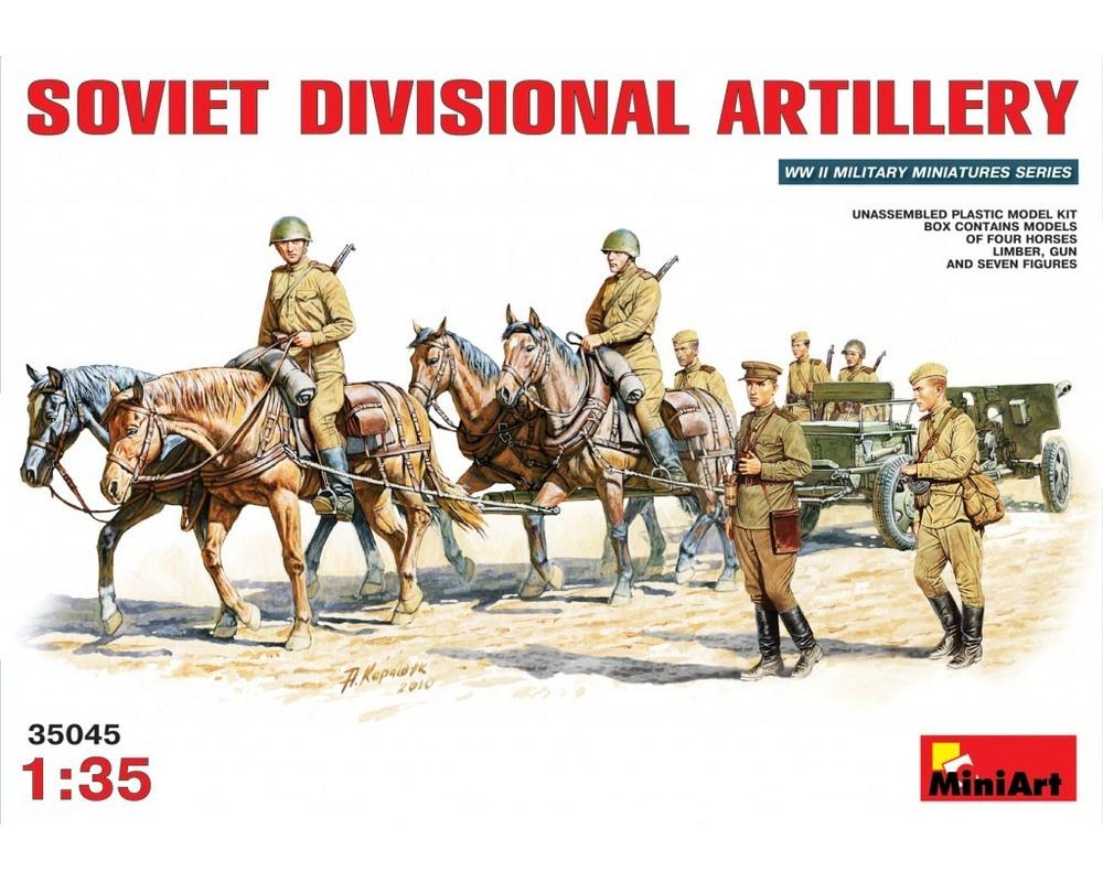 Сборные фигурки MiniArt Советская дивизионная артиллерия 1:35 (MA35045)