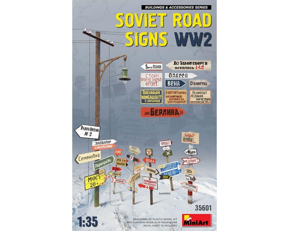 Сборная модель MiniArt Советские дорожные знаки, Вторая мировая война 1:35 (MA35601)