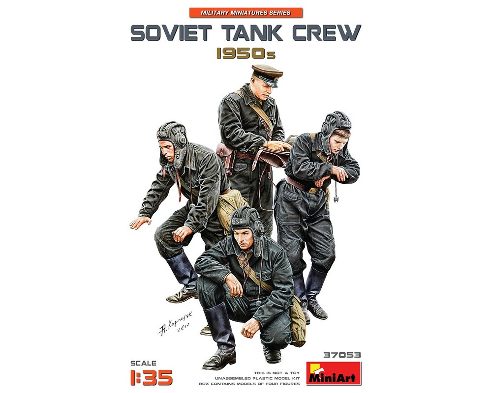 Сборные фигурки MiniArt советского танкового экипажа 1950-х гг. 1:35 (MA37053)