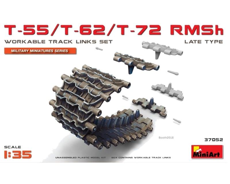 Сборная модель MiniArt Гусеничные цепи семейства T-55/T-62/T-72 позднего типа 1:35 (MA37052)