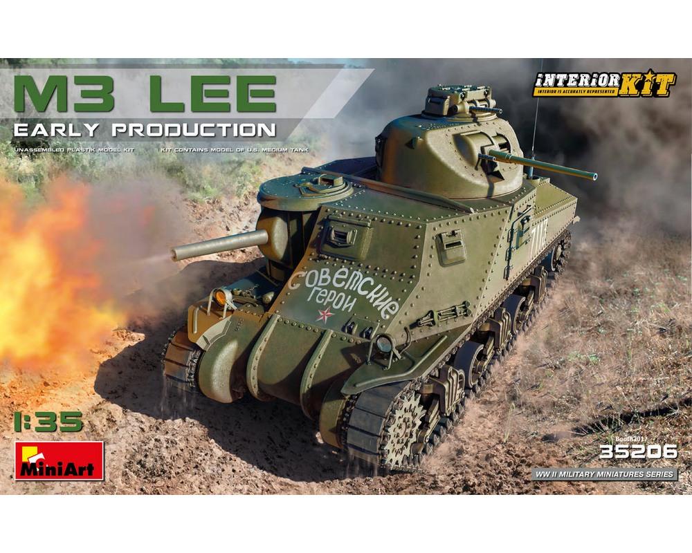 Сборная модель MiniArt Средний танк M3 Lee ранних выпусков, с интерьером 1:35 (MA35206)