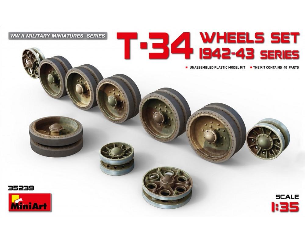 Сборная модель MiniArt Набор катков для танка Т-34 1942-43 гг. выпусков 1:35 (MA35239)
