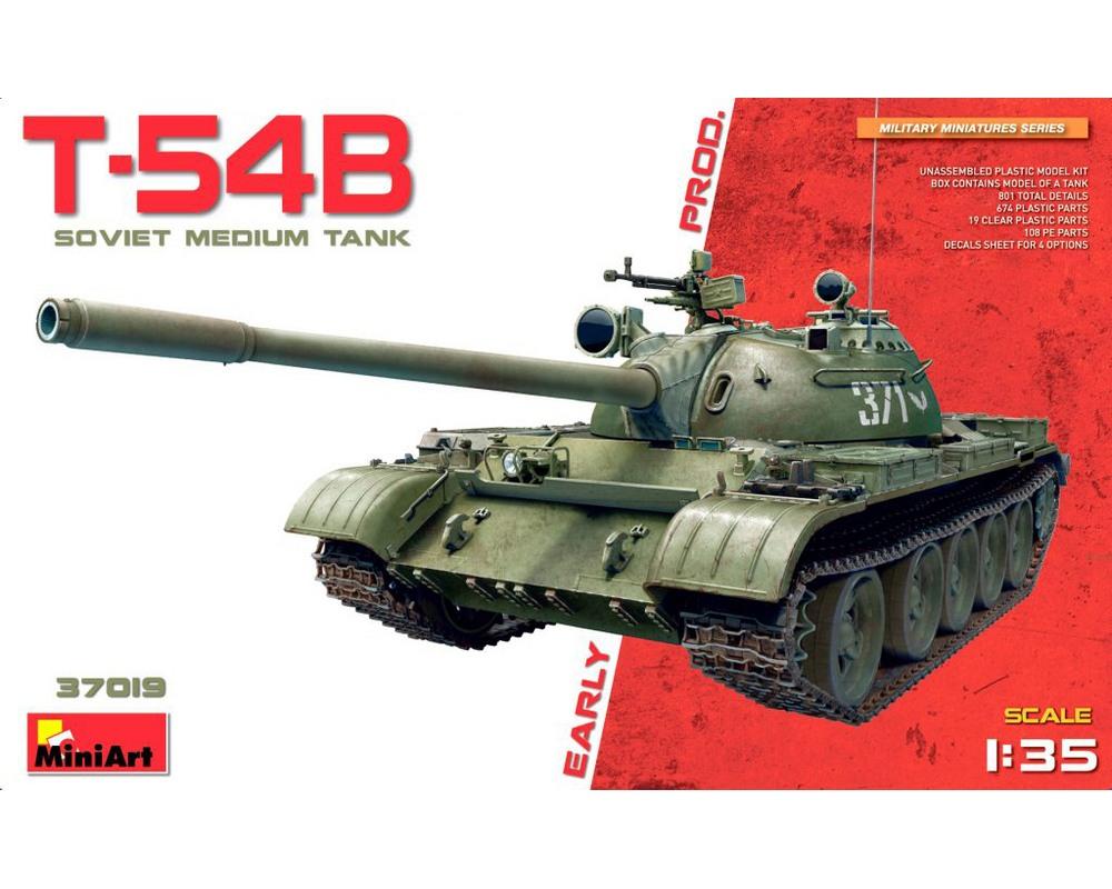 Сборная модель советского среднего танка MiniArt T-54B раннего выпуска 1:35 (MA37019)