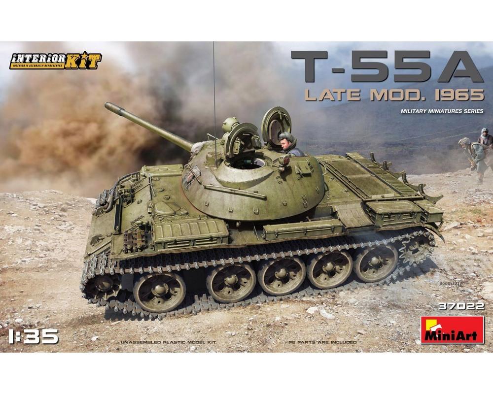 Сборная модель танка MiniArt T-55A Late с интерьером 1:35 (MA37022)