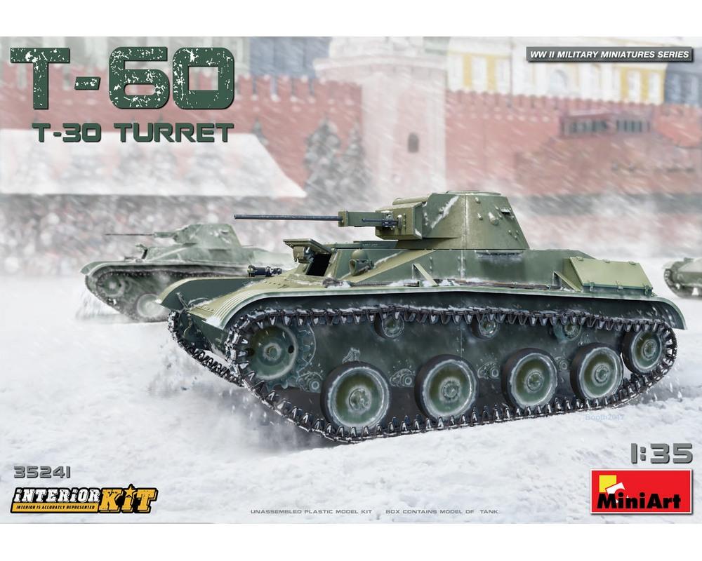 Сборная модель MiniArt Советский легкий танк Т-60 (башня Т-30) с интерьером 1:35 (MA35241)