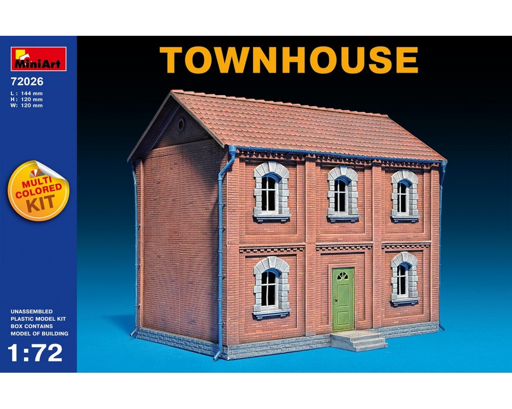 Сборная модель MiniArt городского дома 1:72 (MA72026)