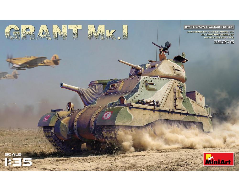 Сборная модель MiniArt Американский средний танк Grant Mk.I 1:35 (MA35276)