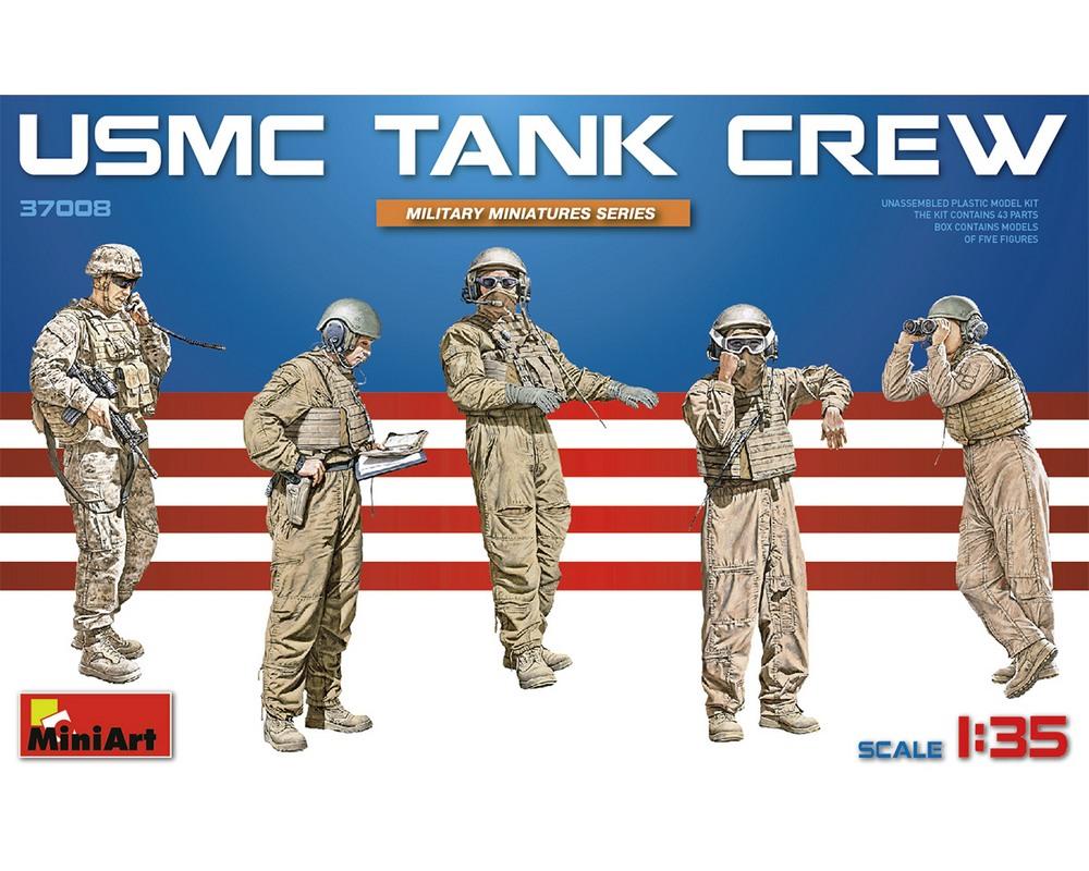 Сборные фигурки MiniArt танкового экипажа корпуса морской пехоты США 1:35 (MA37008)