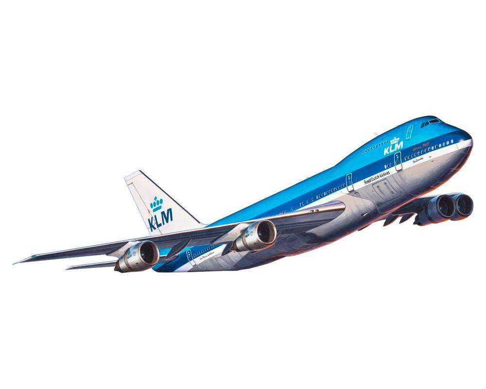 Подарочный набор Revell с моделью пассажирского самолета Boeing 747-200 1:450 (RVL-63999)