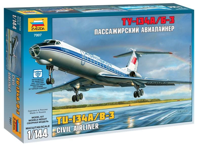 Сборная модель Звезда пассажирский авиалайнер «Ту-134 А/Б-3» 1:144