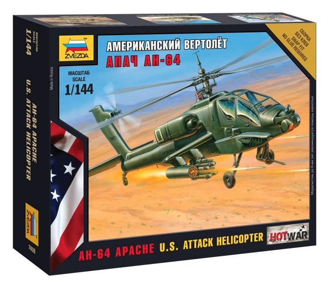 Сборная модель Звезда американский вертолёт «Апач» АН-64 1:144