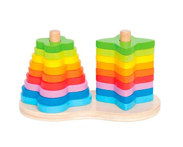 Пирамидка-радуга Hape
