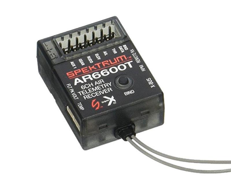 Приемник Spektrum AR6600T 6 каналов DSM2/DSMX с телеметрией
