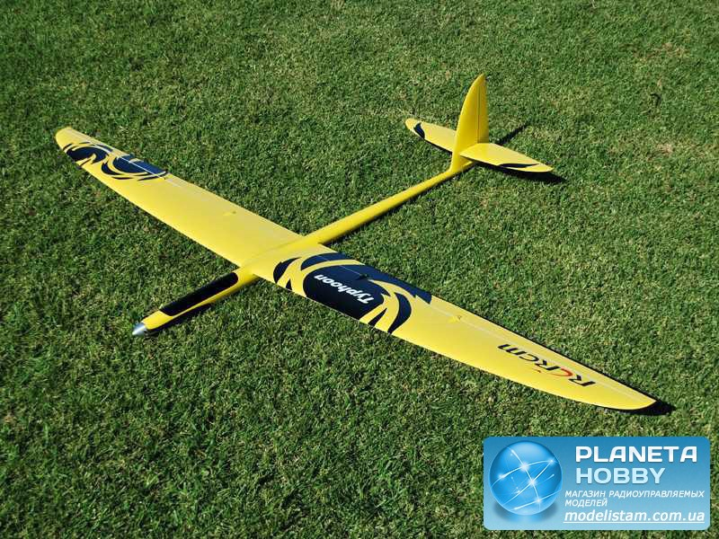 Планер RCRCM Electric Typhoon (full carbon) 2000мм желтый KIT