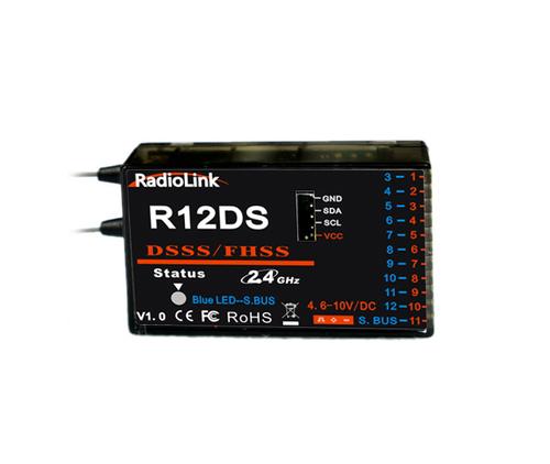 Приемник 11 каналов Radiolink R12DS SBUS для авиамоделей