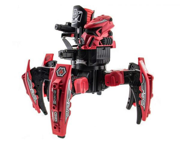 Робот-паук Keye Space Warrior c ракетами, дисками, лазером, цвет красный