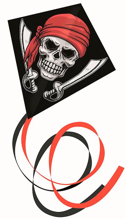 Ромбовидный воздушный змей Пират