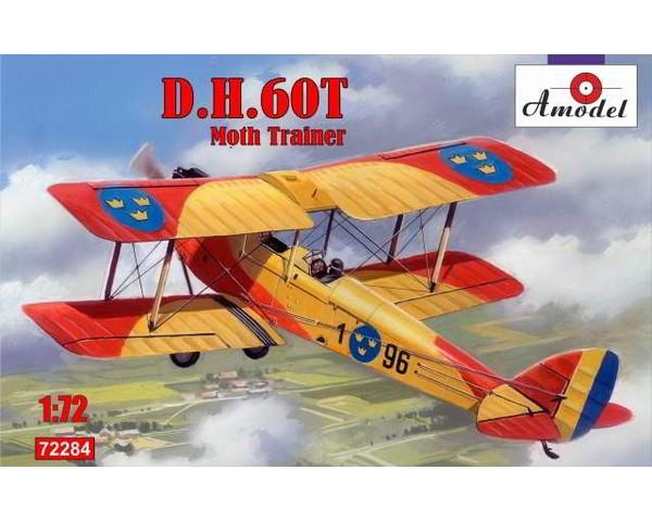 Сборная модель учебно-тренировочного биплана Amodel de Havilland DH.60T Moth Trainer 1:72 (AMO72284)