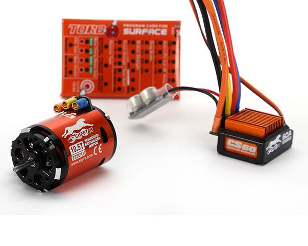Комбо система SkyRC Cheetah Combo 60A Sensored 10.5T 3250KV 2-3S для 1/10 авто