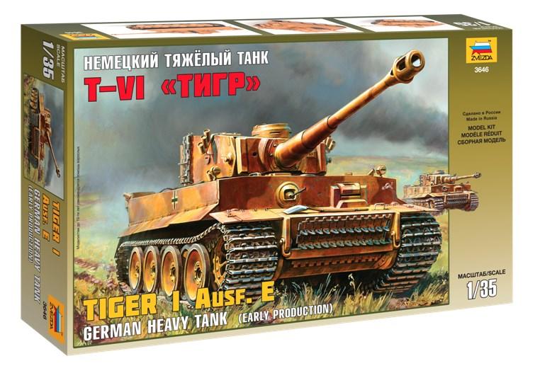 Сборная модель Звезда немецкий тяжёлый танк «Тигр» 1:35