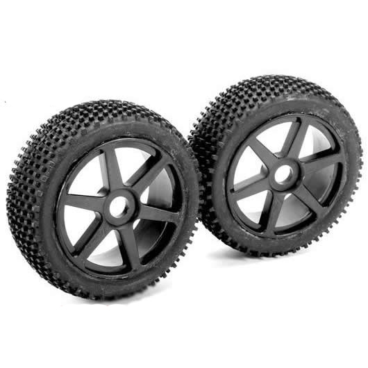 Шины Team Magic B8 Pre-mounted Tires 6 Spokes Black (2шт.)