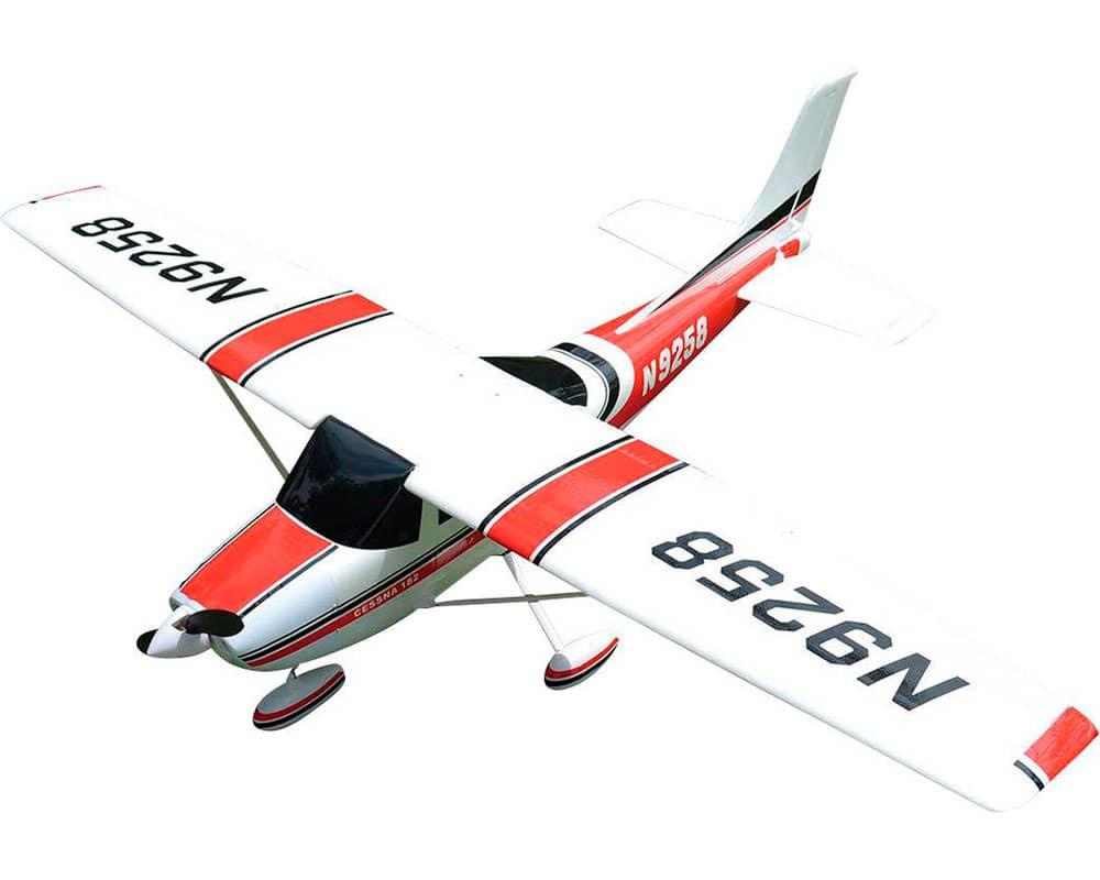 Самолет TOP-RC Cessna 182 RTF 1410 мм 4CH (красный) с симулятором