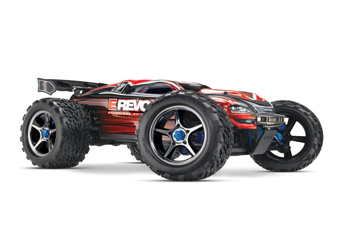 Монстр Traxxas E-Revo Brushless Monster 1:10 RTR 582 мм 4WD TSM 2,4 ГГц (56086-4 Red)