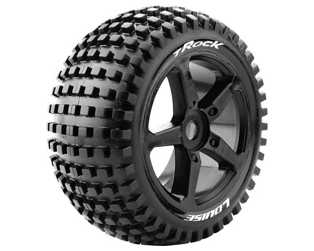 Колесо 1/8 Truggy Louise T-ROCK Sport (0 Offset) Black (2шт.)