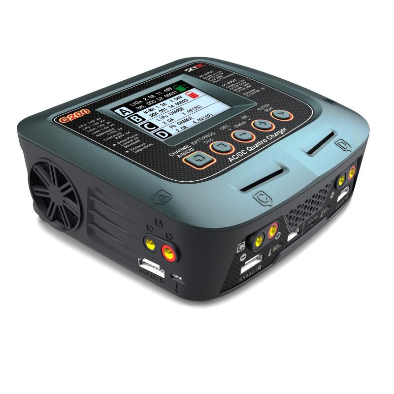 Зарядное устройство SkyRC Q200 10A 200W/300W с/БП четырехпортовое