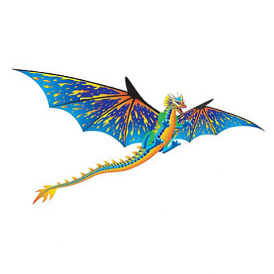 Воздушный змей WindnSun Синий Дракон 3D 1930 х 1600 мм 72101