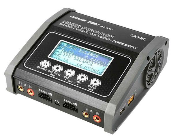 Зарядное устройство SkyRC D260 2*14A/2*130W с/БП двухпортовое