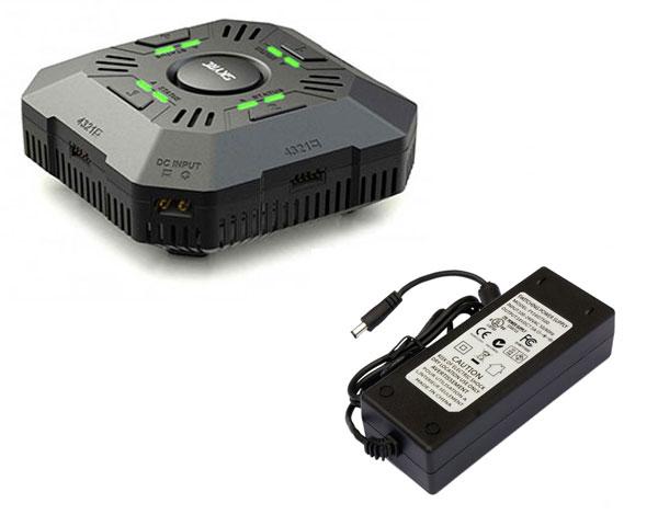 Зарядное устройство SkyRC E4Q 50W Quattro с БП 120W