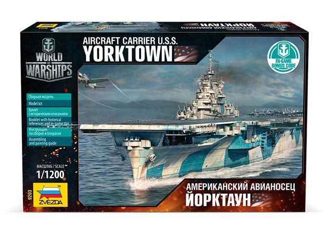 Сборная модель Звезда американский авианосец «Йорктаун» 1:1200