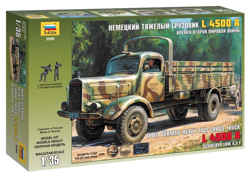 Сборная модель Звезда немецкий тяжёлый грузовик «L 4500A» 1:35
