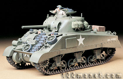 1:35 ������������ ������� ���� M4 Sherman, 3 �������, L=175mm (Tamiya, 35190)